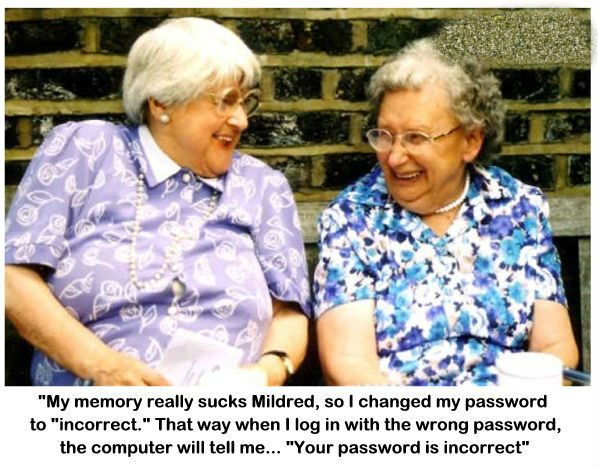 Unforgetable password for old people