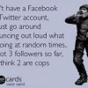 Facebook and Twitter accounts joke